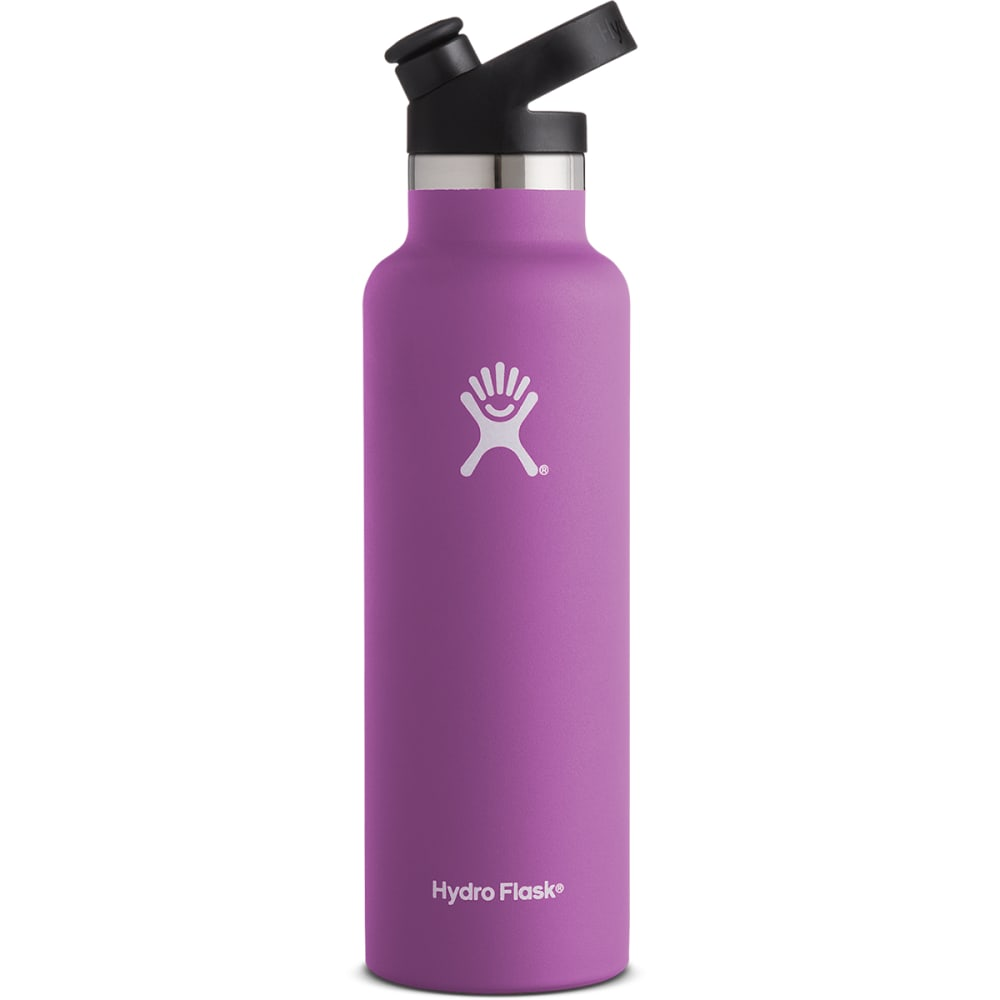HYDRO FLASK 21 oz. Standard Mouth Water Bottle with Sport Cap - RASPBERRY