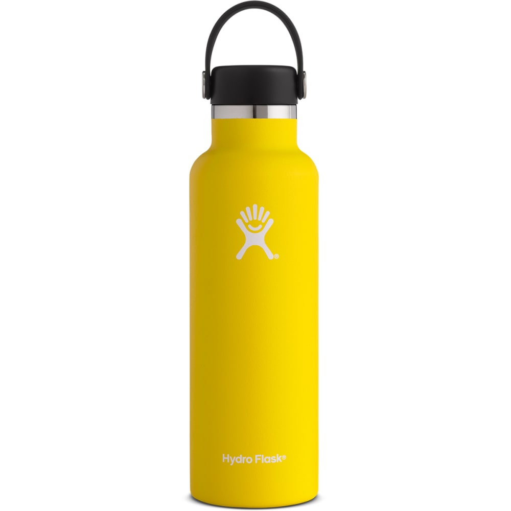HYDRO FLASK 21 oz. Standard Mouth Water Bottle with Flex Cap - LEMON YELLOW