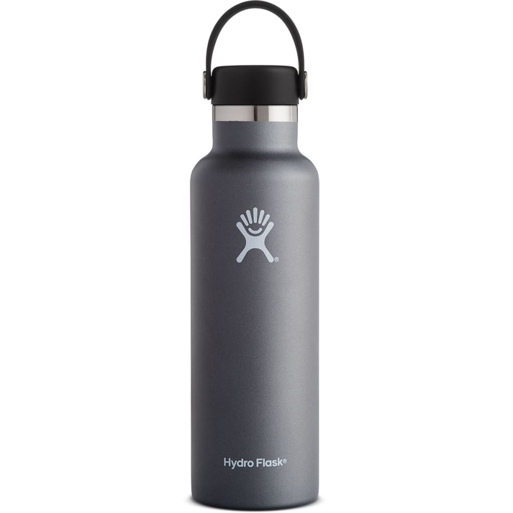 HYDRO FLASK 21 oz. Standard Mouth Water Bottle with Flex Cap - GRAPHITE