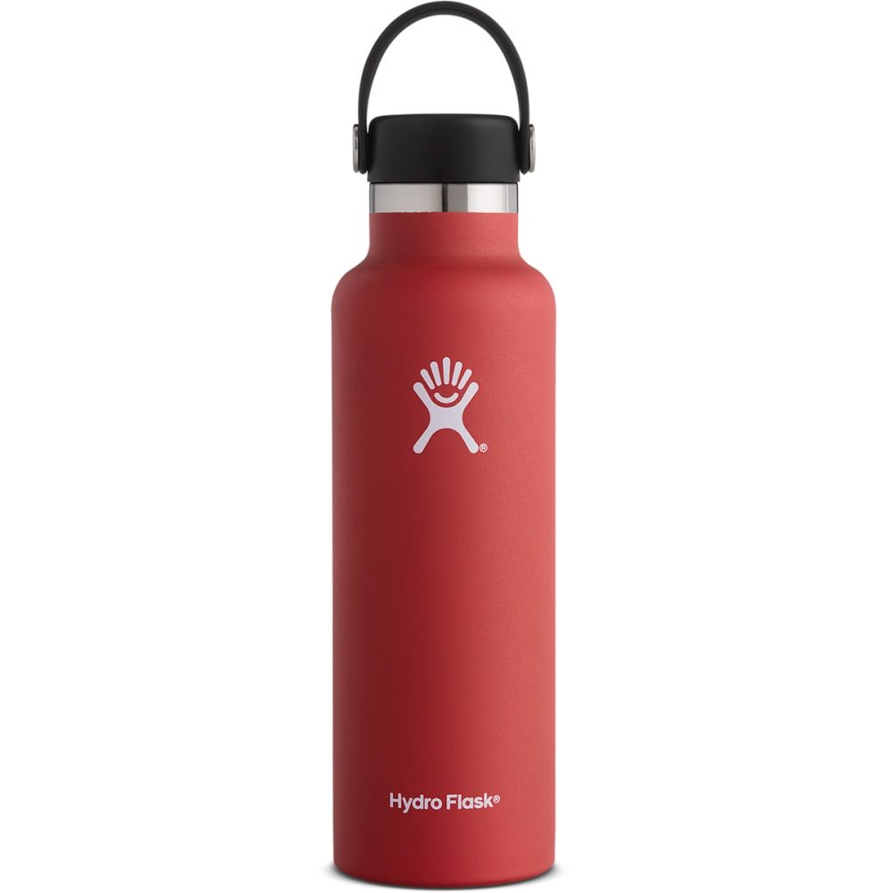 HYDRO FLASK 21 oz. Standard Mouth Water Bottle with Flex Cap - LAVA RED