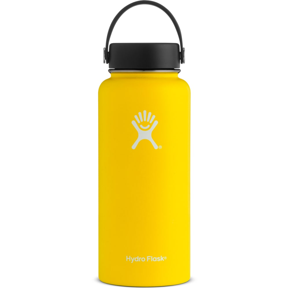 HYDRO FLASK 32 oz. Wide Mouth Water Bottle with Flex Cap - LEMON YELLOW
