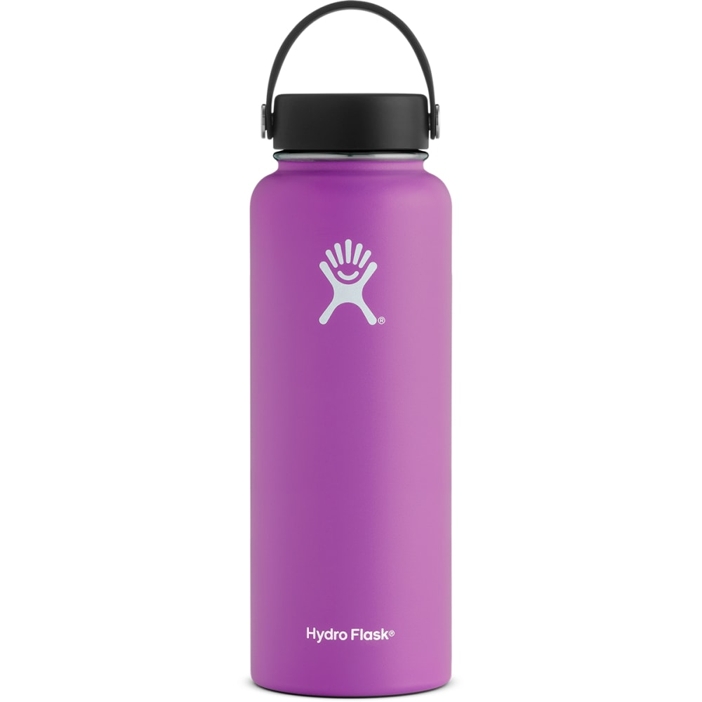 HYDRO FLASK 40 oz. Wide Mouth Water Bottle with Flex Cap - RASPBERRY