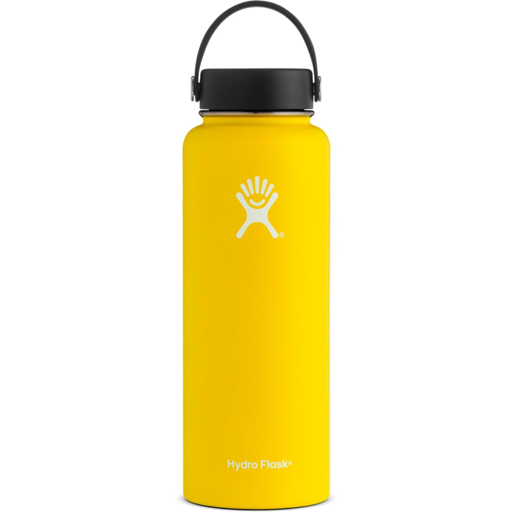 HYDRO FLASK 40 oz. Wide Mouth Water Bottle with Flex Cap - LEMON YELLOW