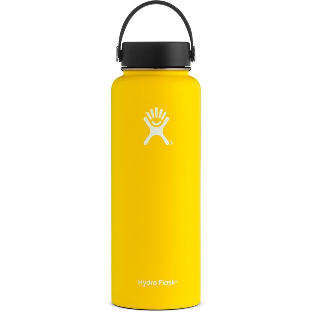 HYDRO FLASK 40 oz. Wide Mouth Water Bottle with Flex Cap - LEMON YELLOW