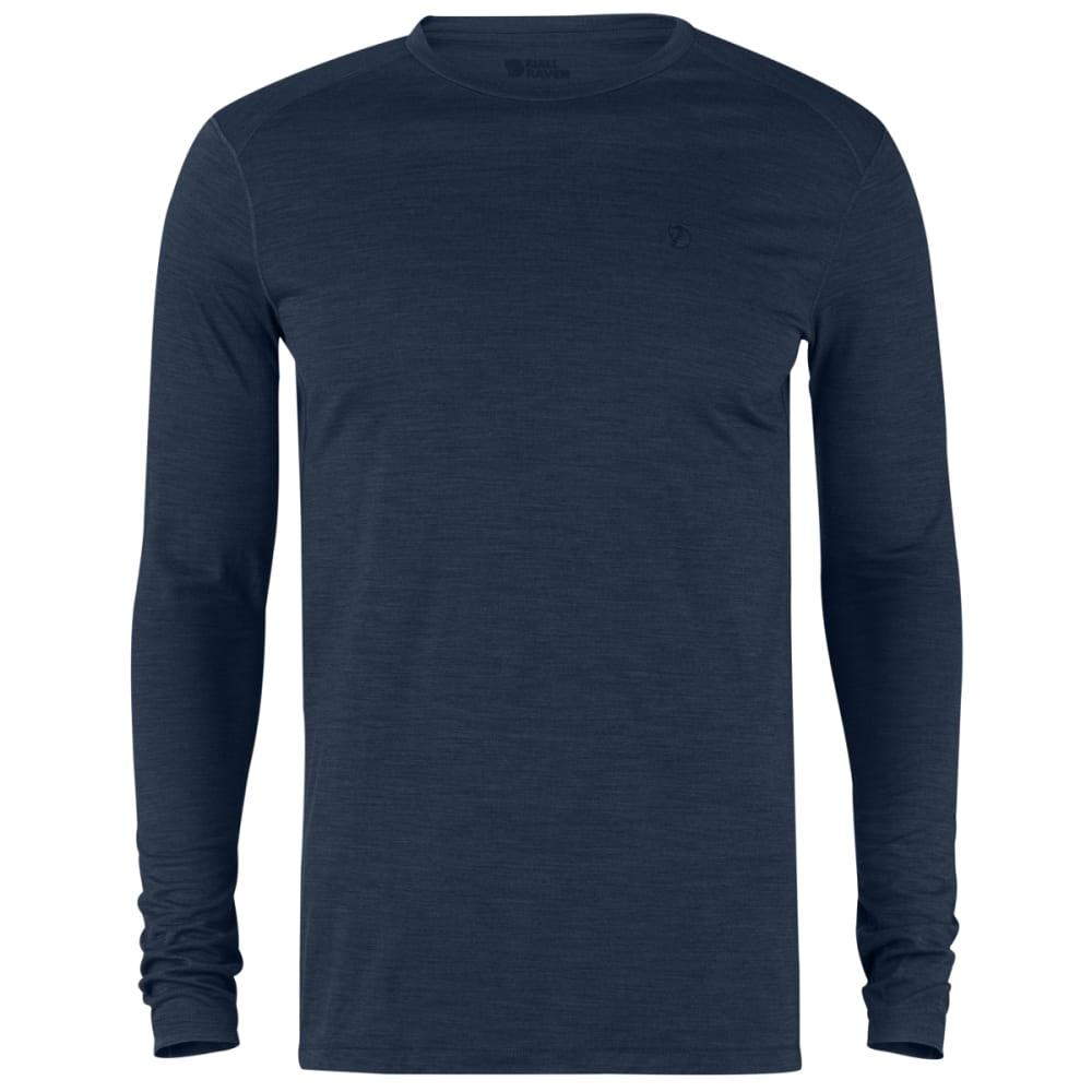 FJALLRAVEN Men's High Coast First Layer Long Sleeve Shirt - NAVY