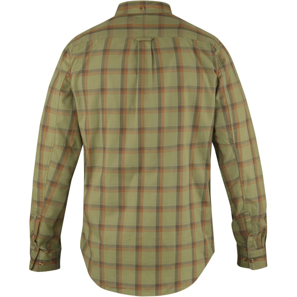 FJÄLLRÄVEN Men's Övik Flannel Long-Sleeve Shirt - GREEN