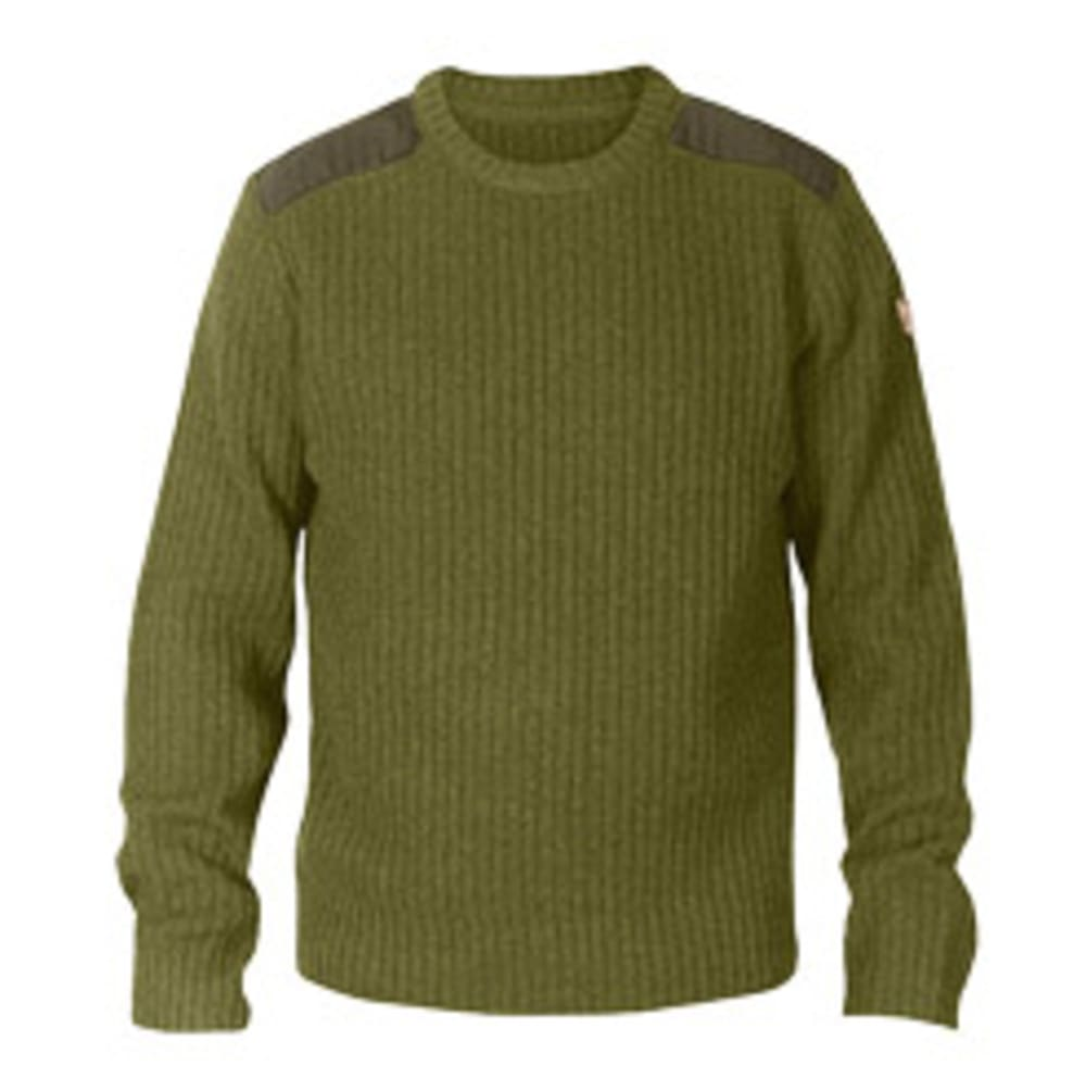 FJALLRAVEN Men's Singi Knit Sweater - DARK OLIVE