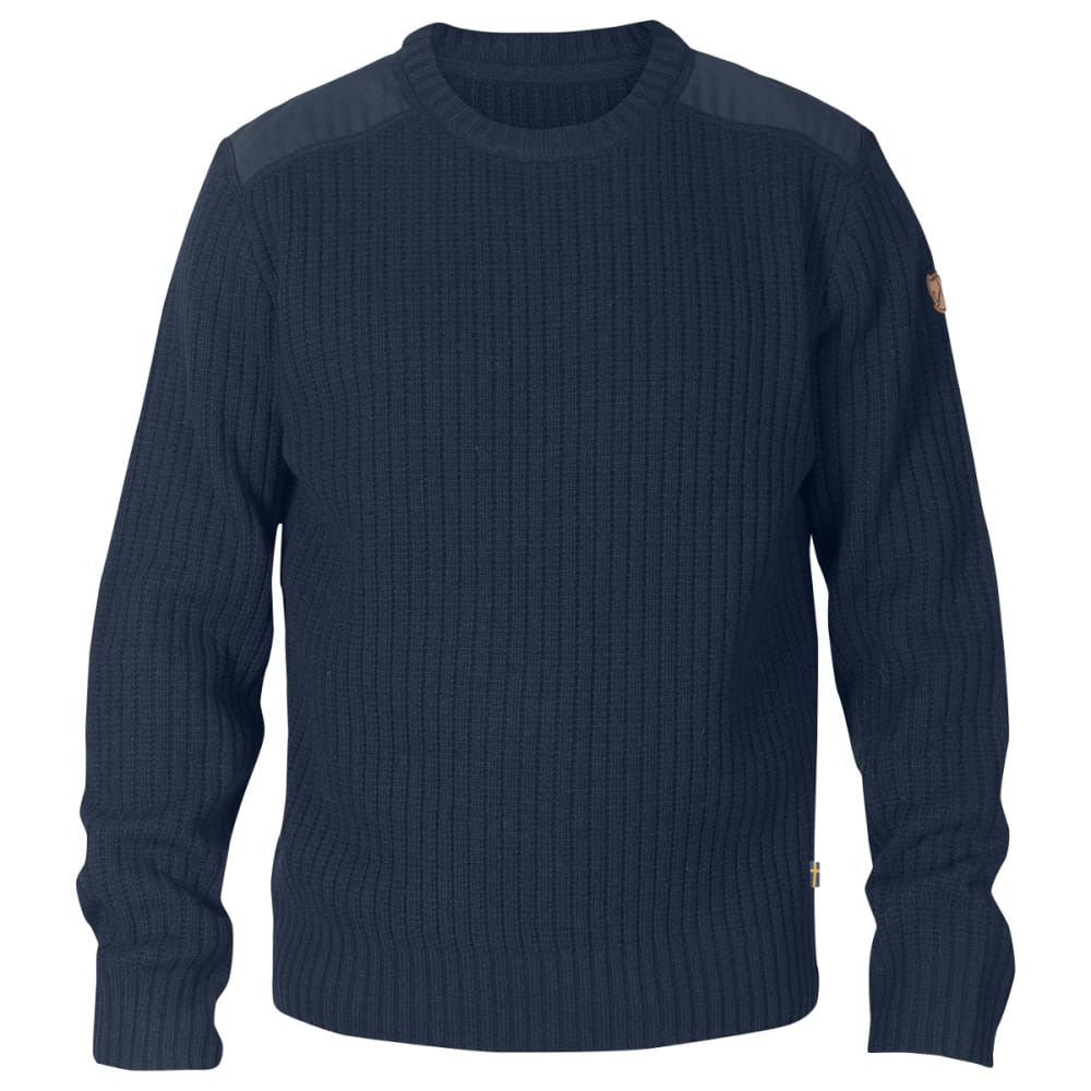 FJÄLLRÄVEN Men's Singi Knit Sweater - DARK NAVY