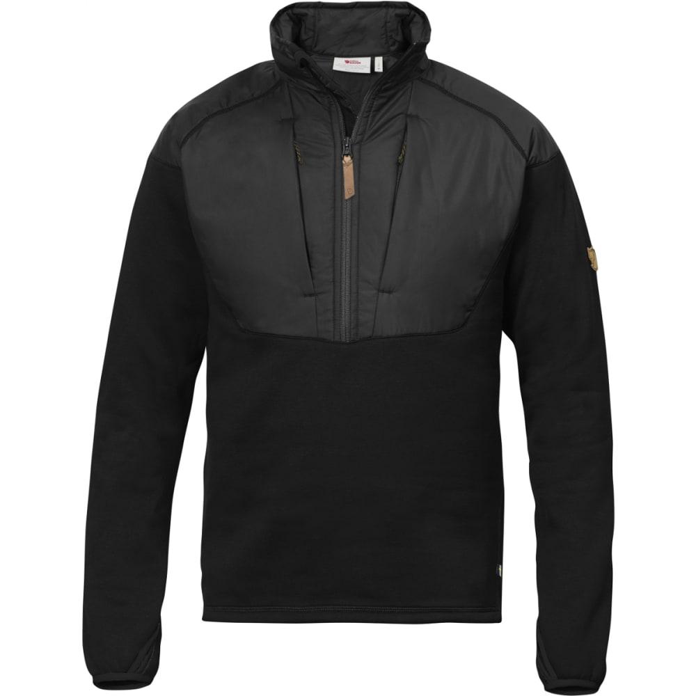 FJALLRAVEN Men's Keb Hybrid Half Zip - BLACK