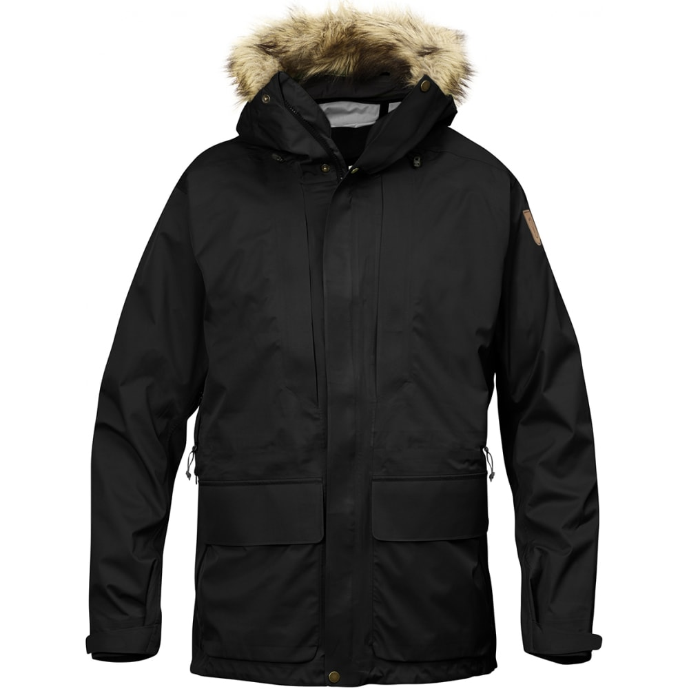 FJALLRAVEN Men's Keb Eco-Shell Parka - BLACK