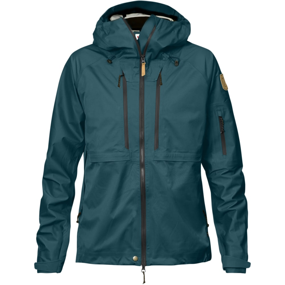 FJALLRAVEN Women's Keb Eco-Shell Jacket - GLACIER GREEN
