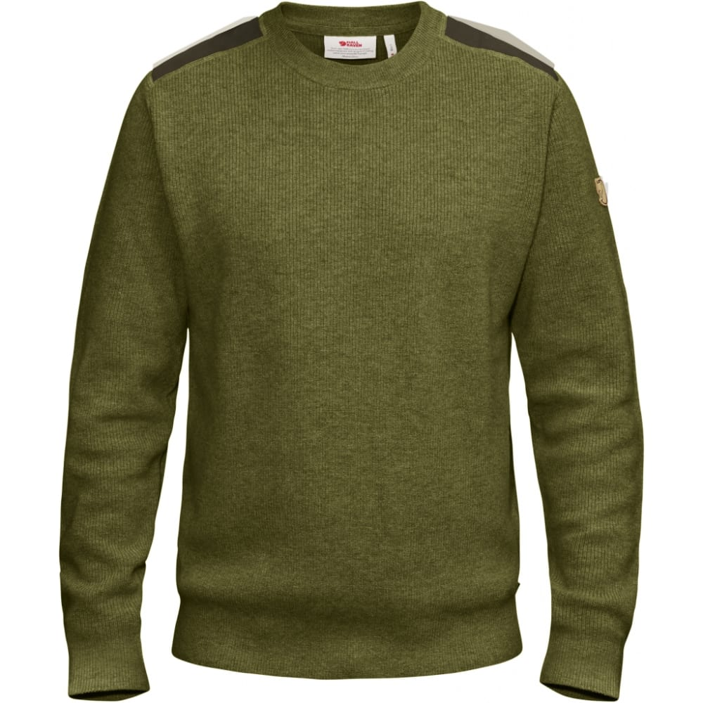FJALLRAVEN Men's Sormland Crew Sweater - DARK OLIVE