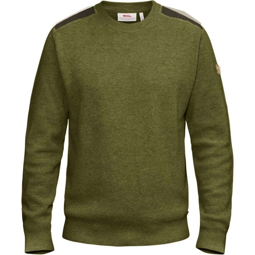 FJALLRAVEN Men's Sormland Crew Sweater - DARK OLIVE