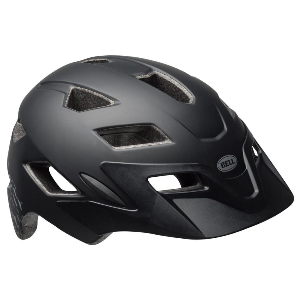 BELL Kids' Sidetrack Universal Cycling Helmet - BLACK/SILVER FRAGMEN