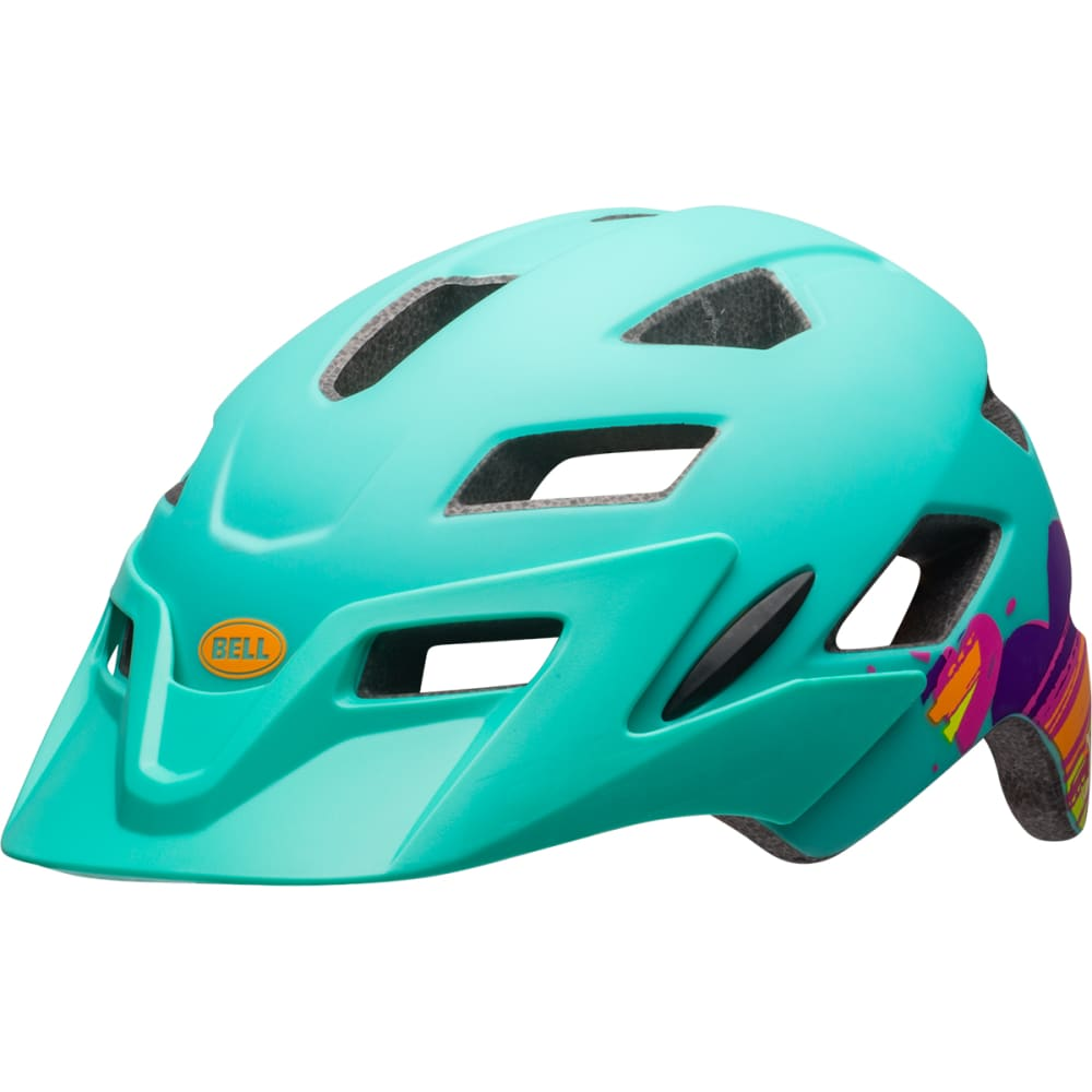 BELL Kids' Sidetrack Universal Cycling Helmet - MATTE MINT HEARTS