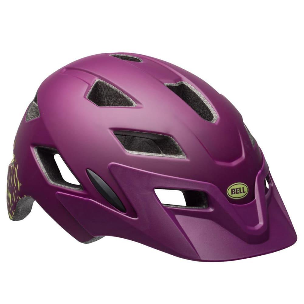 BELL Kids' Sidetrack Universal Cycling Helmet - PLUM/PEAR FRAGMENTS