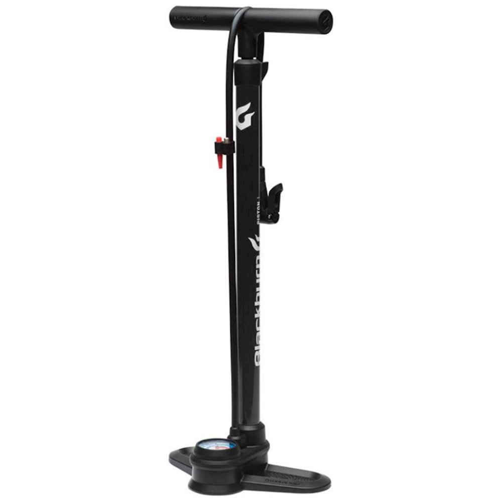 BLACKBURN Piston 1 Floor Pump - MATTE BLACK/WHITE