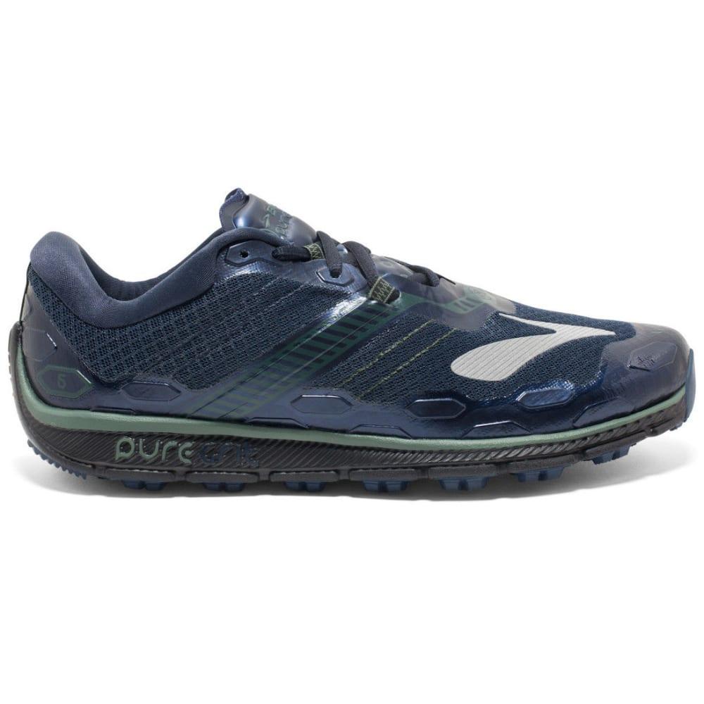 BROOKS Men's Puregrit 5 Trail Running Shoes, Dress Blues/Duck Green/Black - NAVY