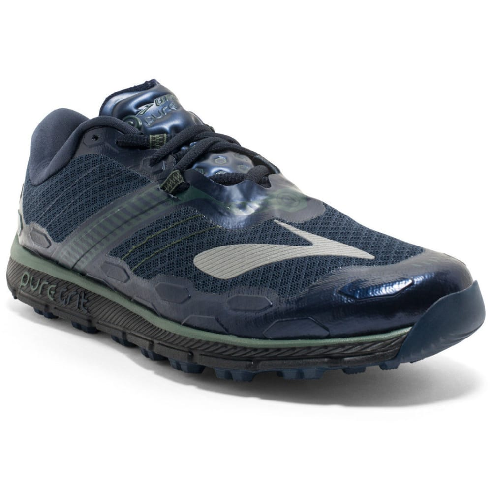 BROOKS Men's Puregrit 5 Trail Running Shoes, Dress Blues/Duck Green/Black - NAVY