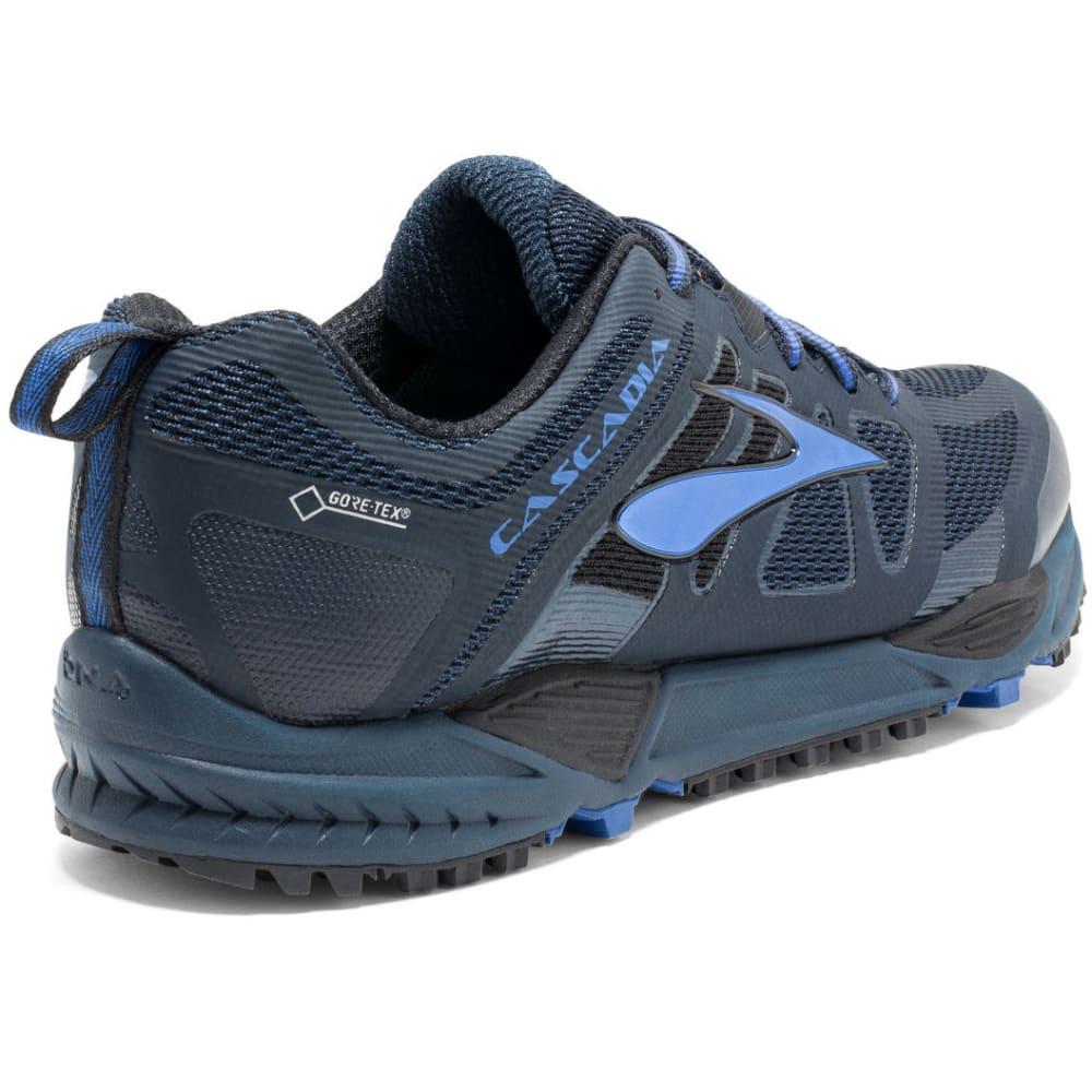 BROOKS Men's Cascadia 11 GTX Trail Running Shoes, Dress Blues/Electric Blue/Black - NAVY