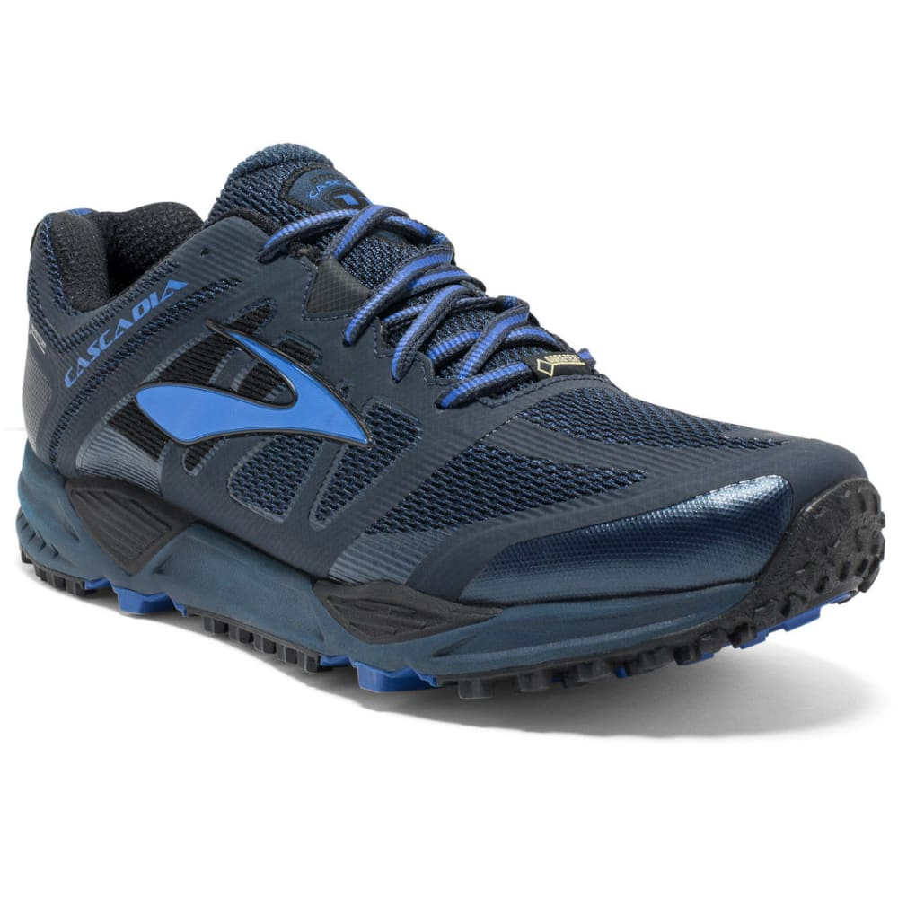 BROOKS Men's Cascadia 11 GTX Trail Running Shoes, Dress Blues/Electric Blue/Black - NAVY
