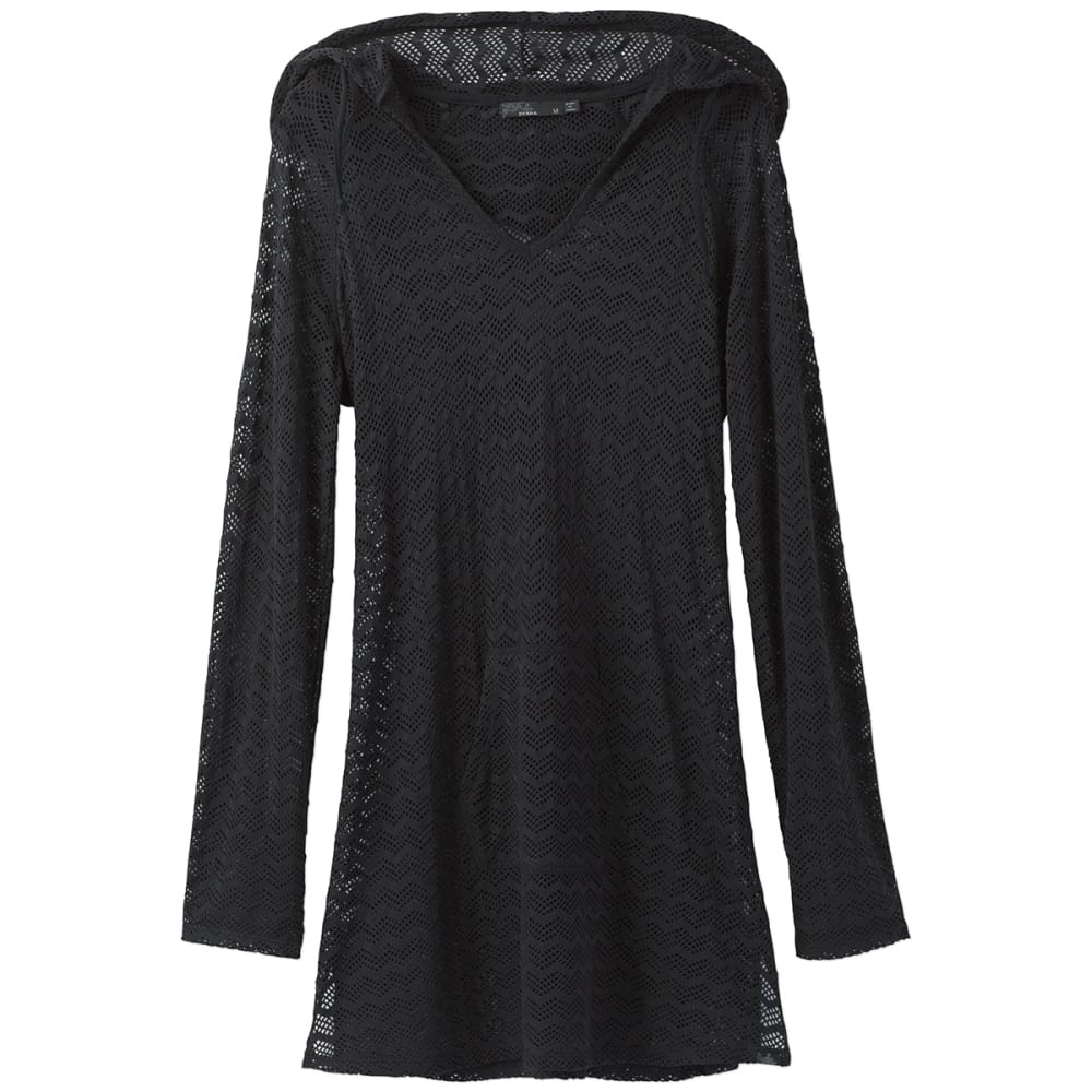 PRANA Women's Luiza Tunic Swim Cover-Up - SOBK-SOLID BLACK