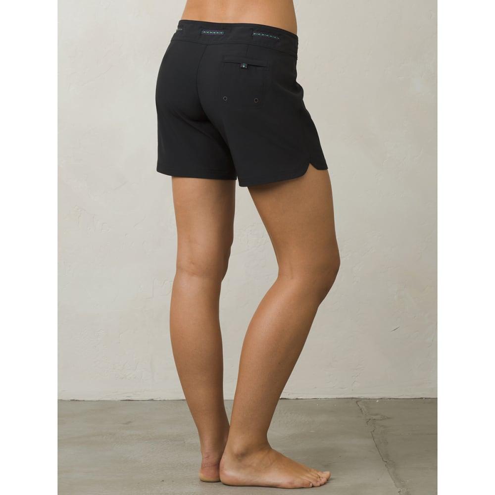 PRANA Women's Silvana Boardshorts - BLK-BLACK