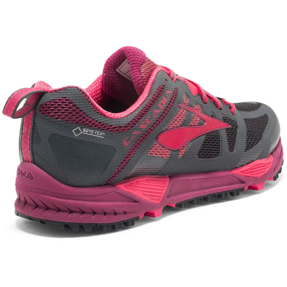 BROOKS Women's Cascadia 11 GTX Trail Running Shoes, Anthracite/Teaberry/Raspberry - ANTHRACITE