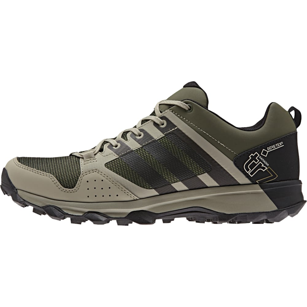 ADIDAS Men's Kanadia 7 Trail GTX Shoes, Base Green - BASE GREEN/BLK/TECH