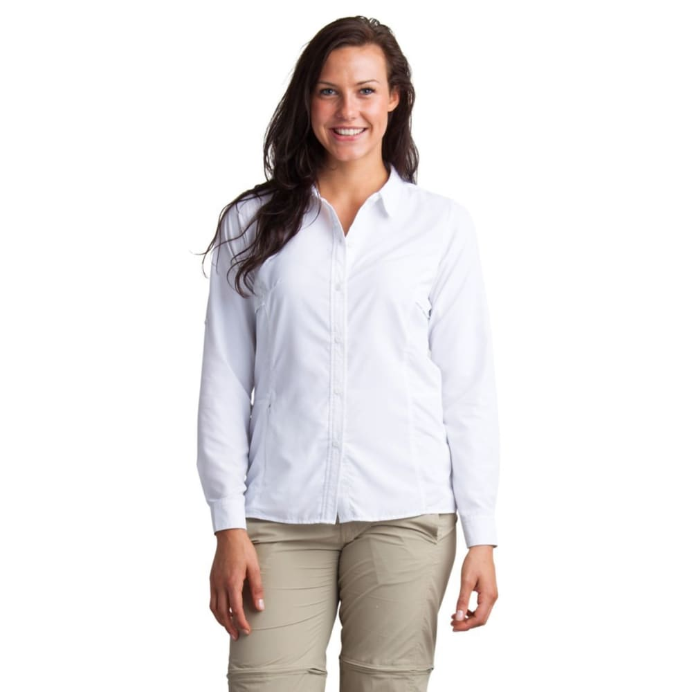 EX OFFICIO Women's BugsAway Viento Shirt - 1000-WHITE