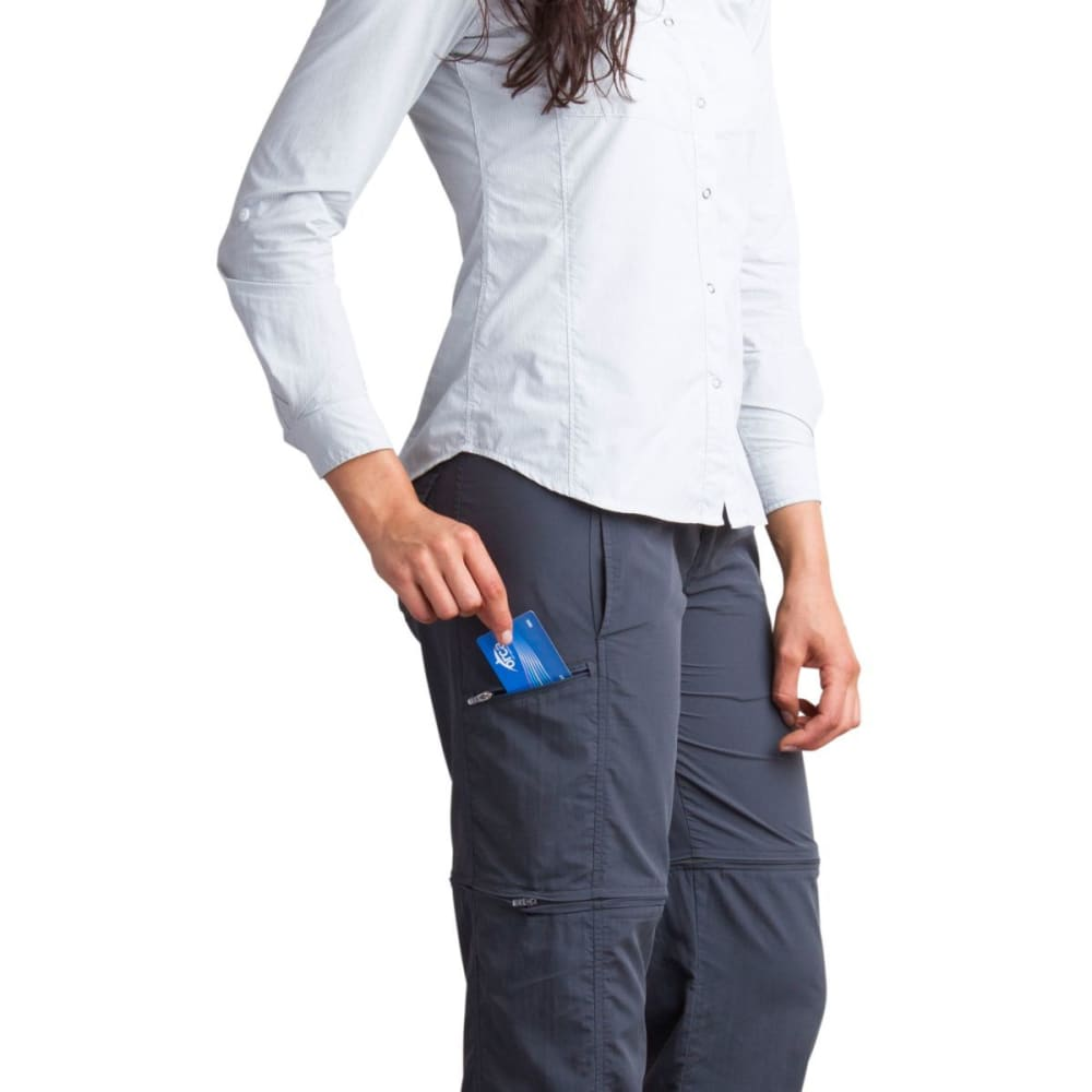 EX OFFICIO Women's BugsAway® Sol Cool™ Ampario Convertible Pants - 9703-CARBON