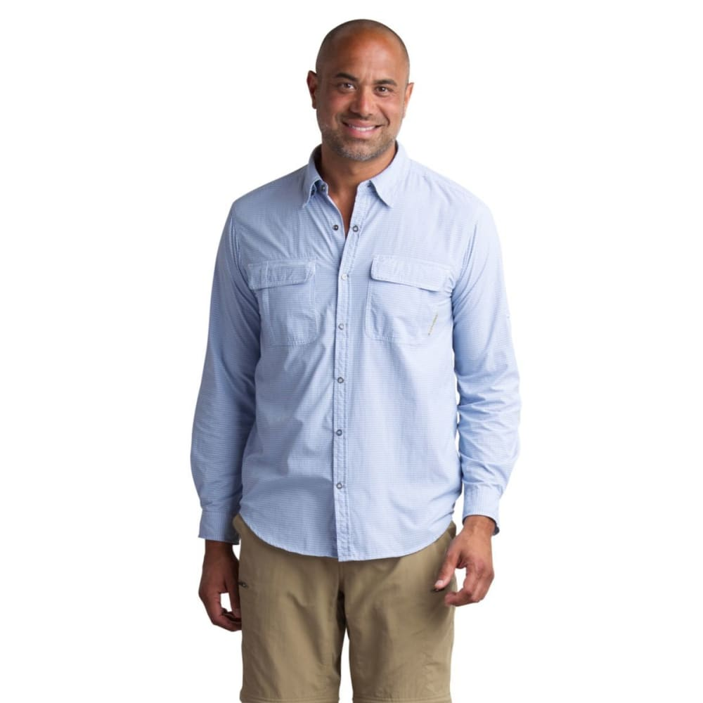 EX OFFICIO Men's BugsAway® Halo Check Shirt - 5600-NAVY