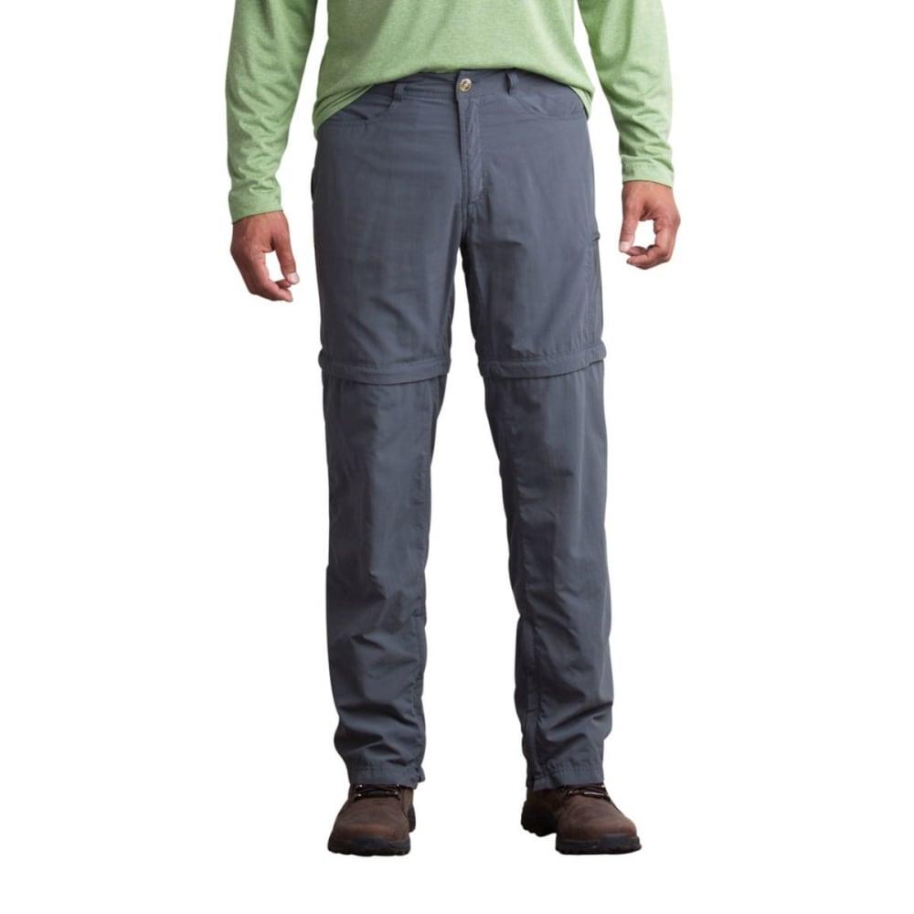 EX OFFICIO Men's BugsAway Sol Cool Ampario Convertible Pants, Regular Length - 9420-DRK PEBBLE