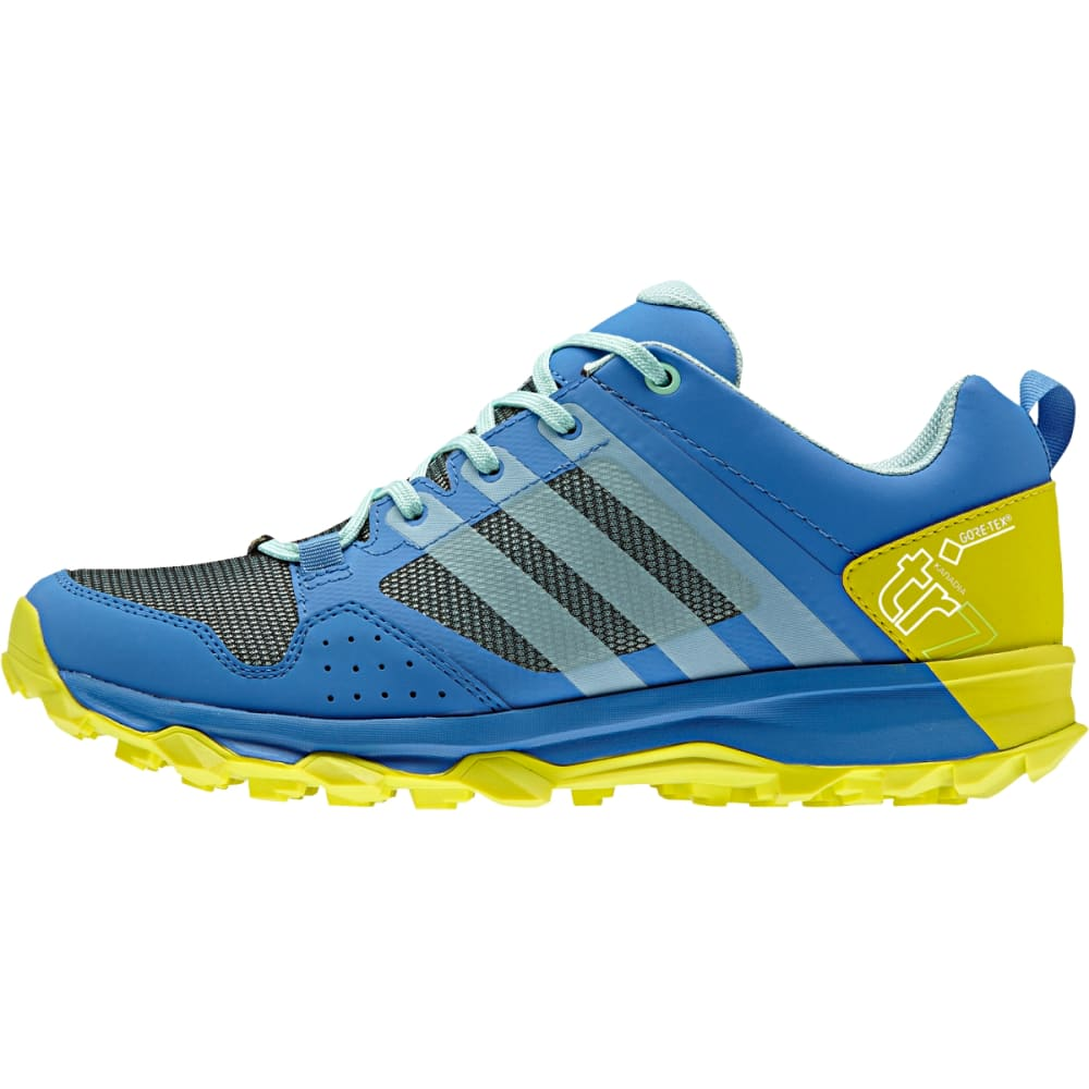 ADIDAS Women's Kanadia 7 Trail GTX Shoes, Ray Blue - RAY BLU/I GRN/SLIME