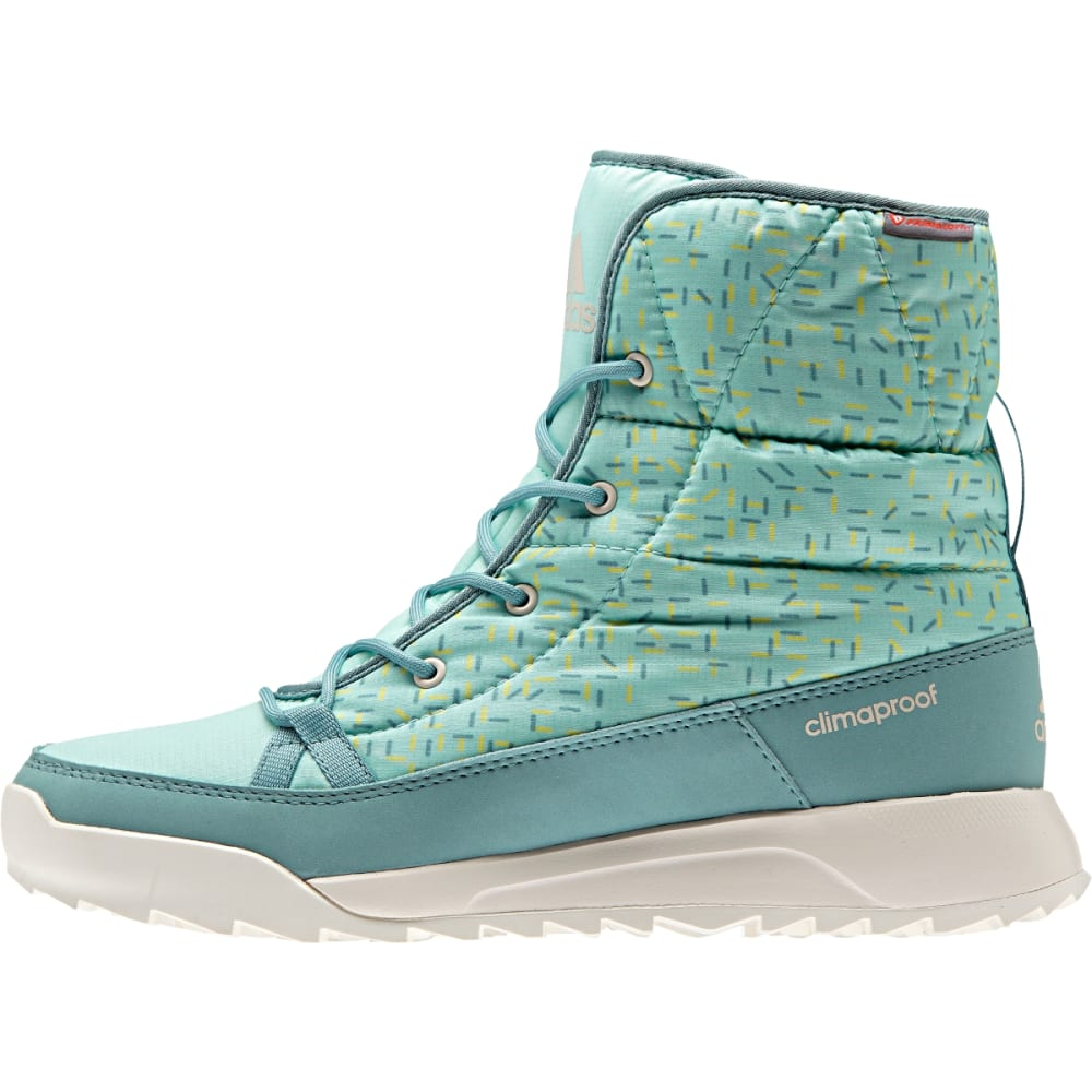 ADIDAS Women's Climawarm CP Choleah Padded Boots, Ice Green - GRN/STEEL/WHT