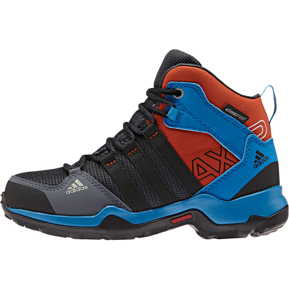 ADIDAS Kids' AX2 Mid ClimaProof Shoes, Onix/Black - ONIX/BLACK/BLUE