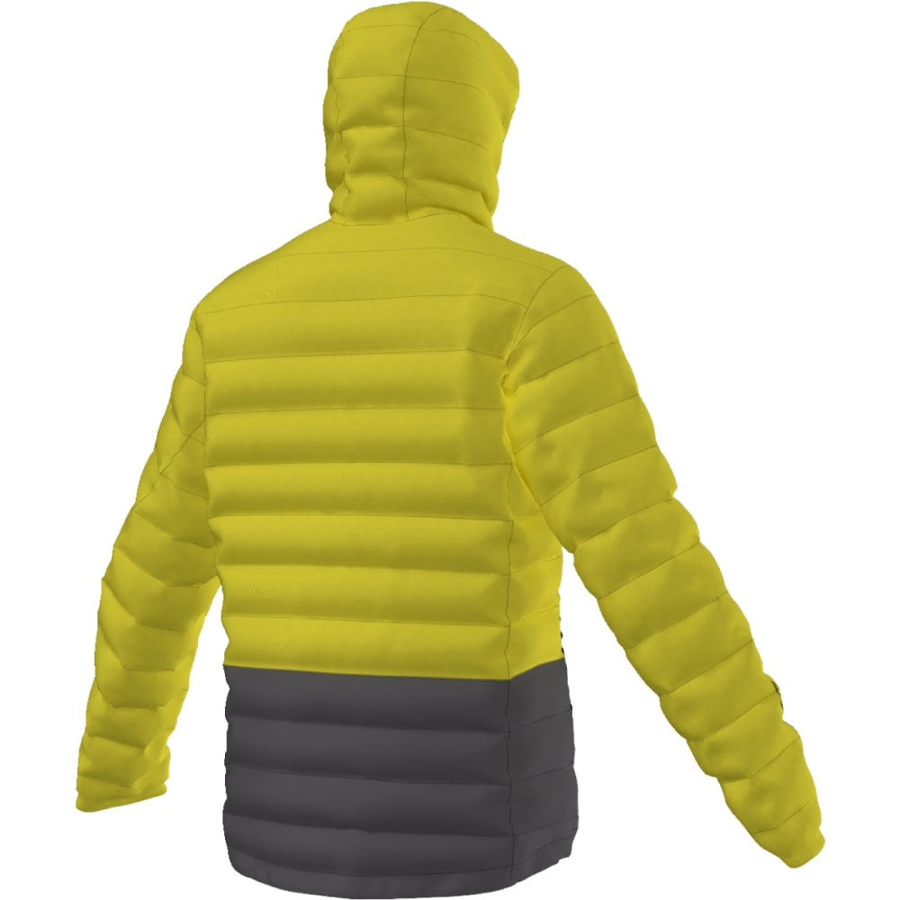 ADIDAS Men's Light Down Hooded Jacket - UNITY LIME/U BLACK
