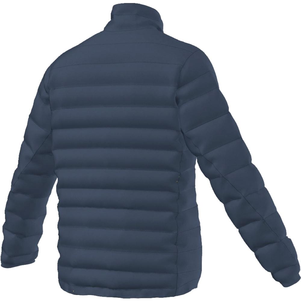 ADIDAS Men's Light Down Jacket - MINERAL BLUE/LIME