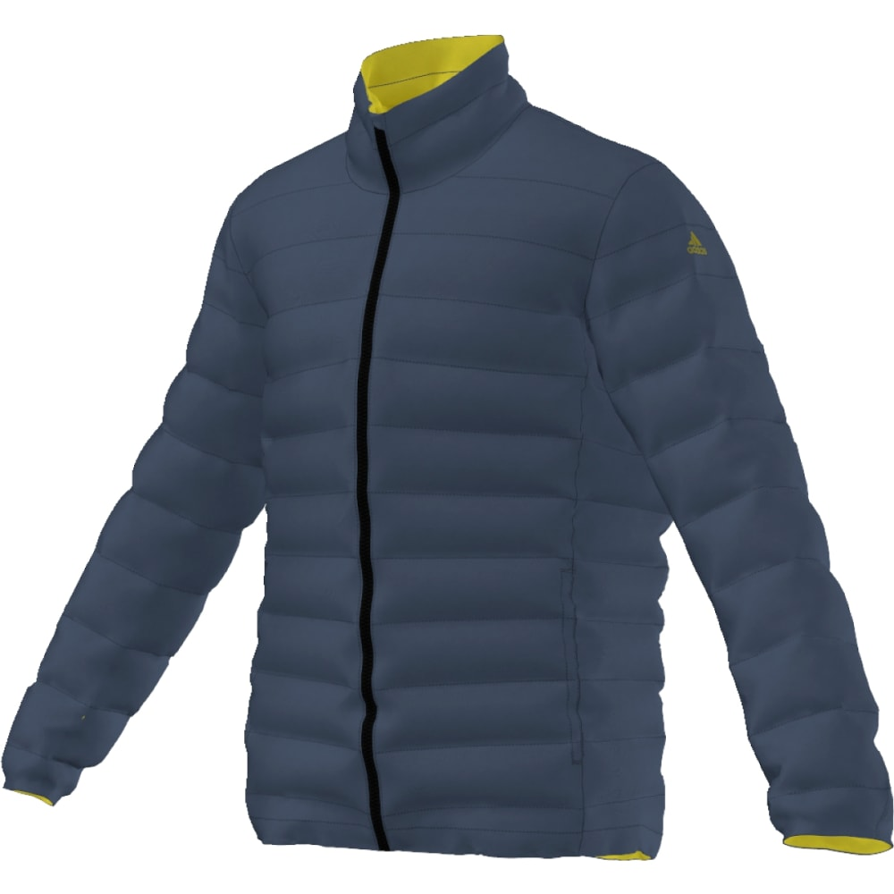 ADIDAS Men's Light Down Jacket - MINERAL BLUE/LIME