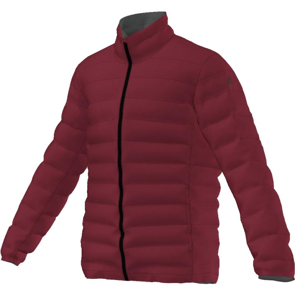 ADIDAS Men's Light Down Jacket - COL BURGUNDY/IVY