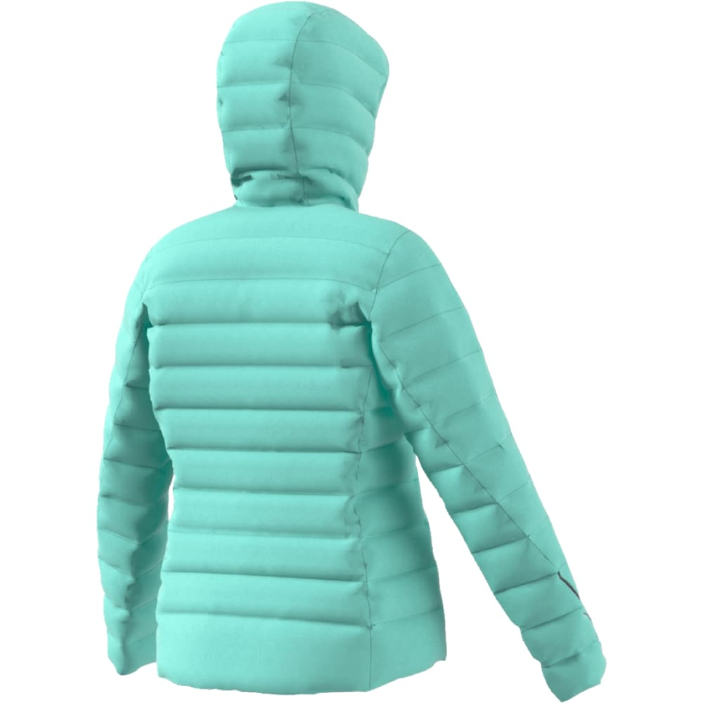 ADIDAS Women's Light Down Hooded Jacket - ICE GREEN