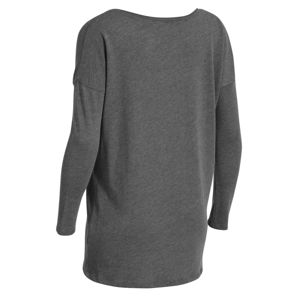 EMS Women's Scoop Knit Long-Sleeve Shirt - GREY HEATHER