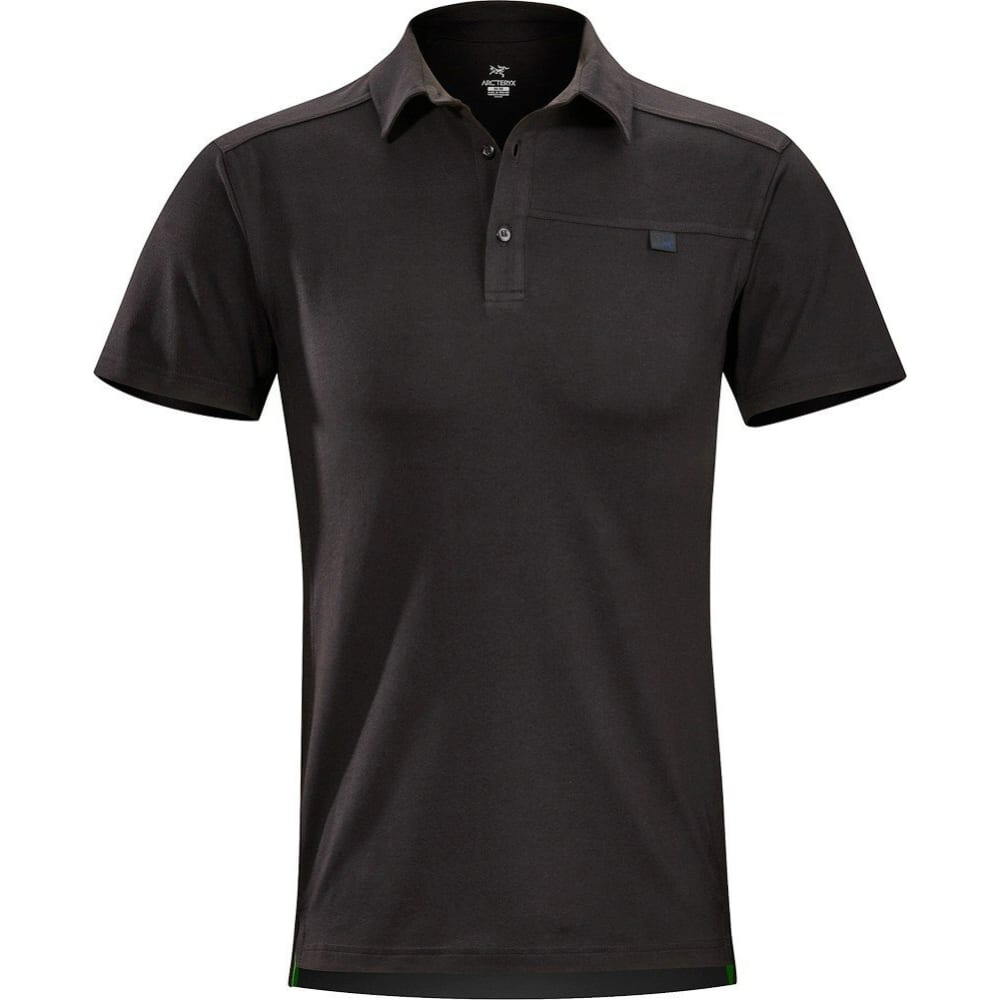ARC'TERYX Men's Captive Polo Shirt - BLACK