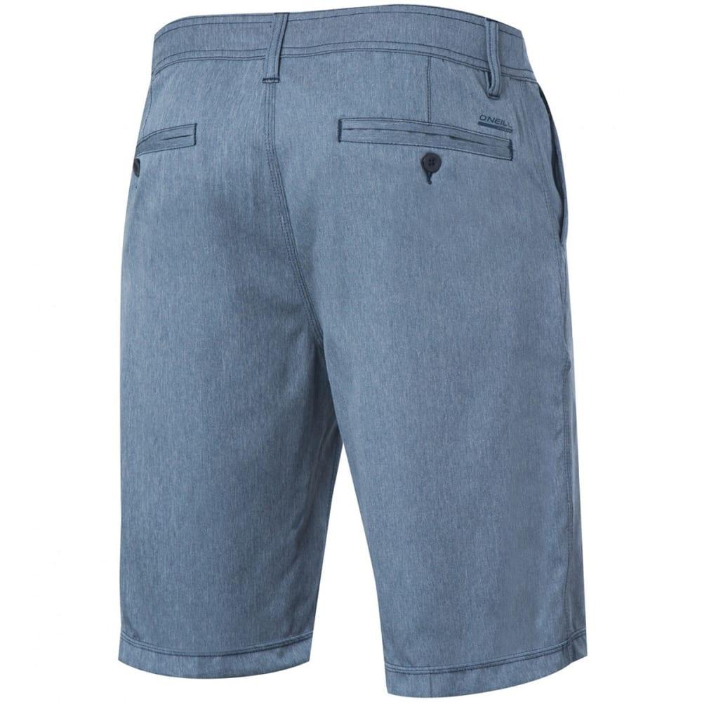 O'NEILL Men's Loaded Texture Hybrid Boardshorts - BLH-BLUE HEATHER