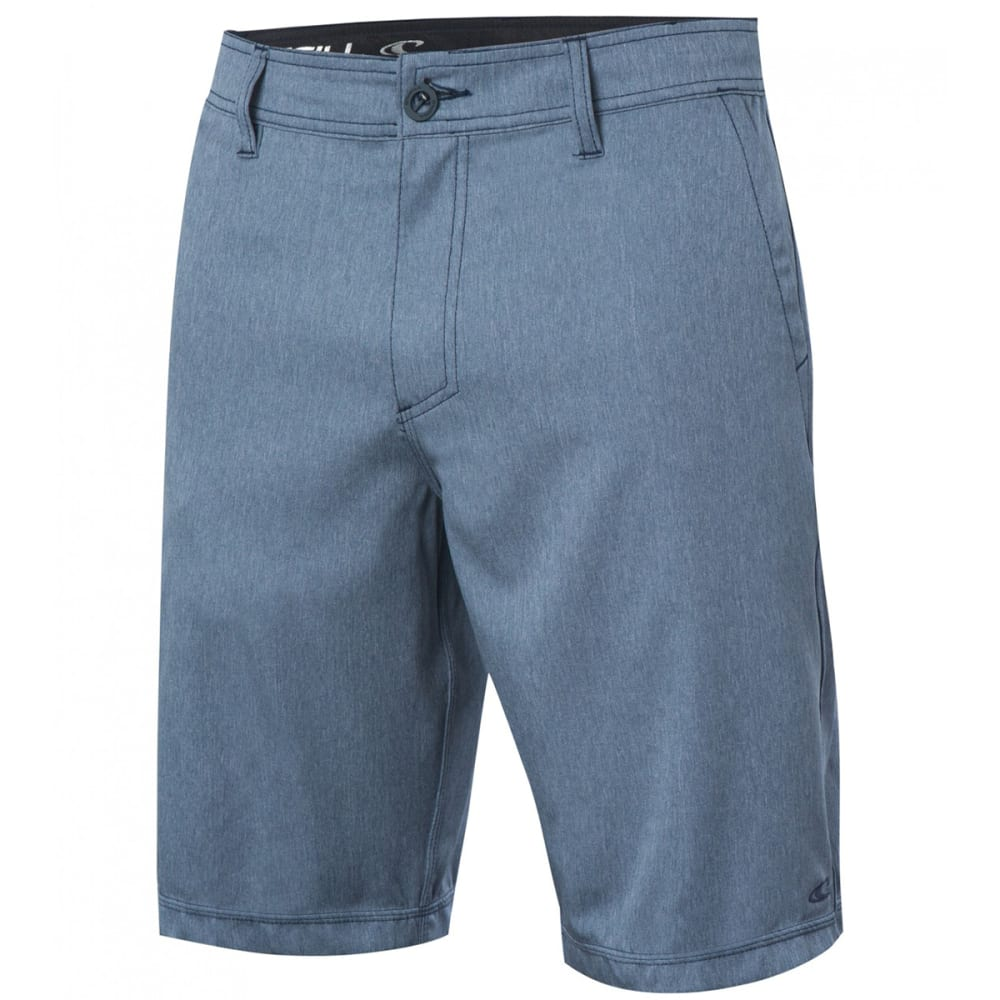 O'NEILL Men's Loaded Texture Hybrid Boardshorts - BLH-BLUE HEATHER