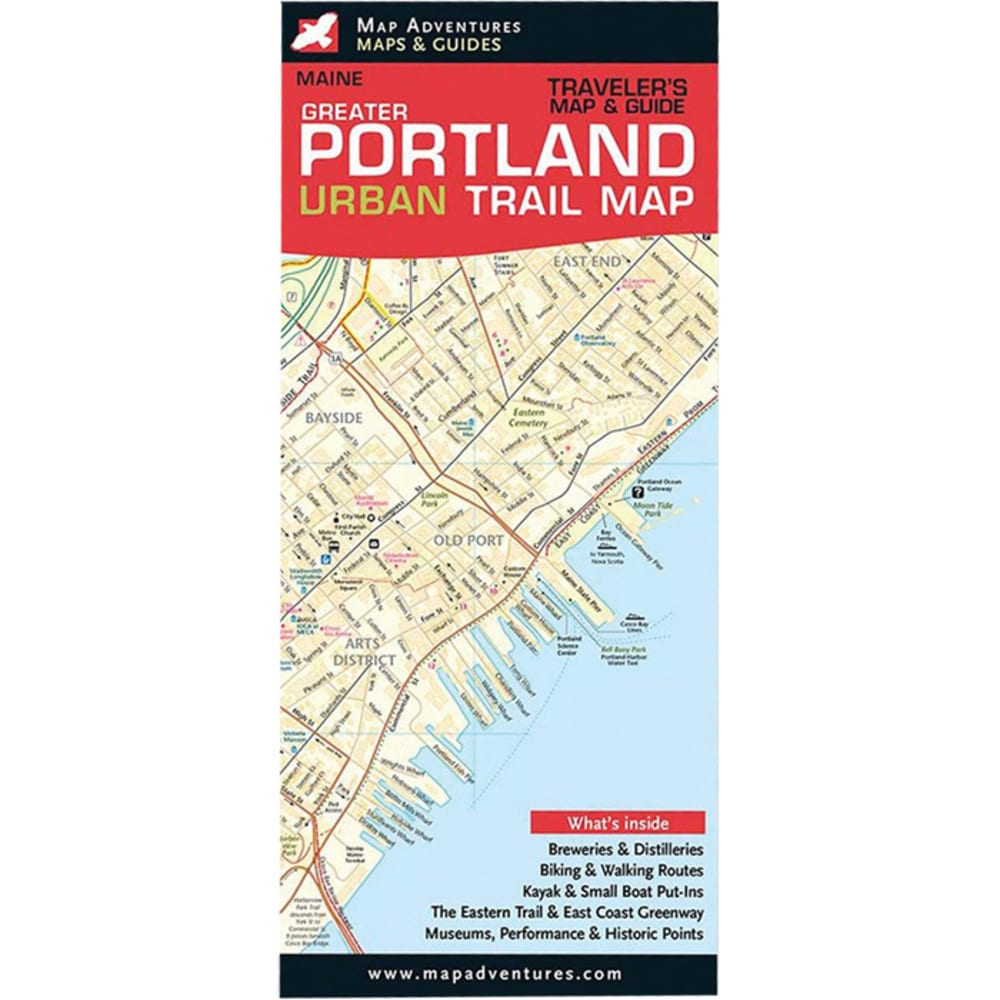 MAP ADVENTURES Greater Portland, Maine Urban Trail Map NO SIZE