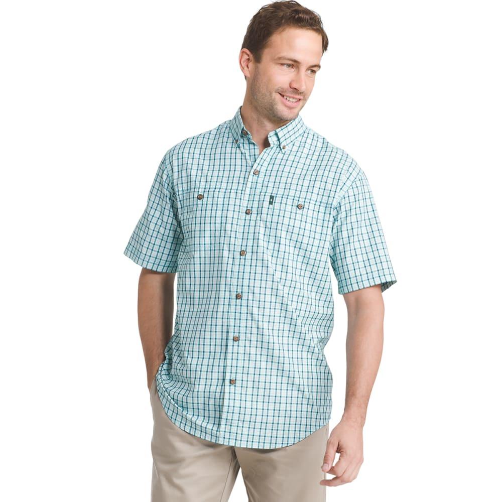 G.H. BASS & CO. Men's Plaid Explorer Sportsman Short-Sleeve Shirt - ICY MORN - 448
