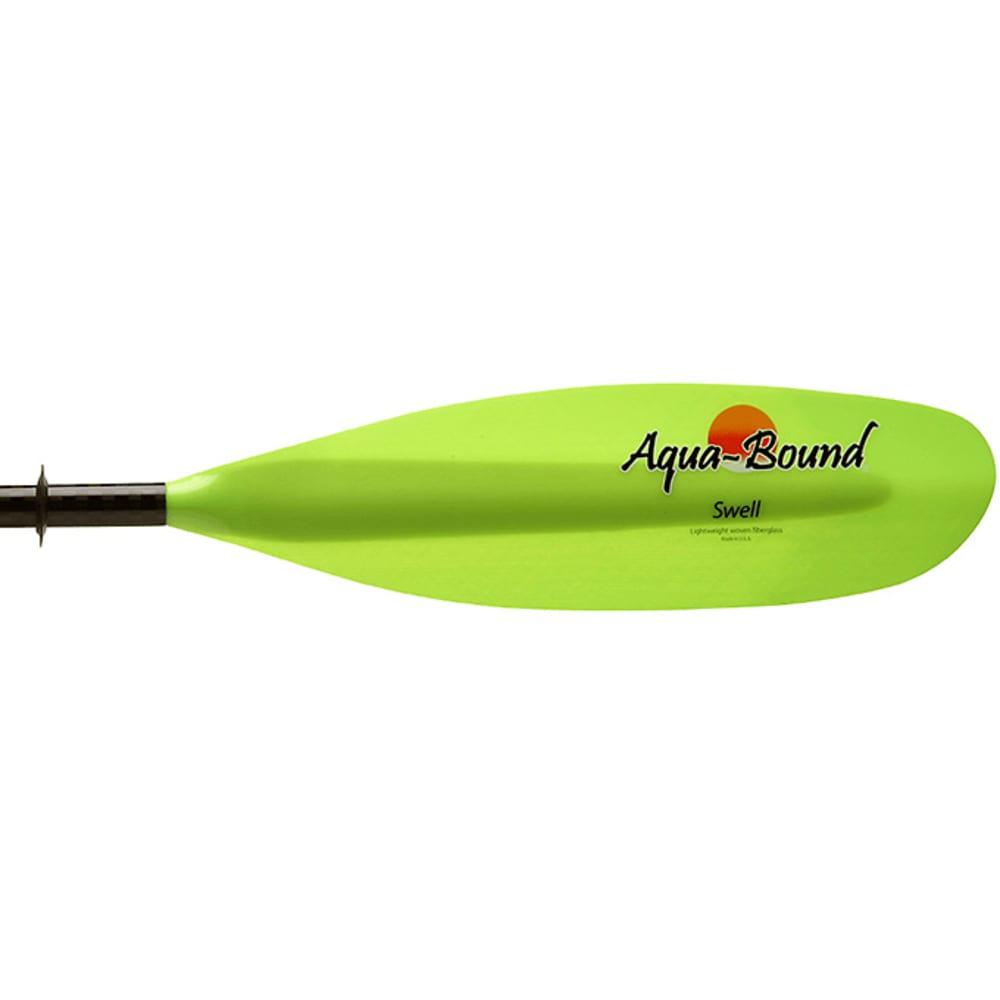 AQUA-BOUND Swell Fiberglass Kayak Paddle, 2-Piece, Snap-Button - GREEN