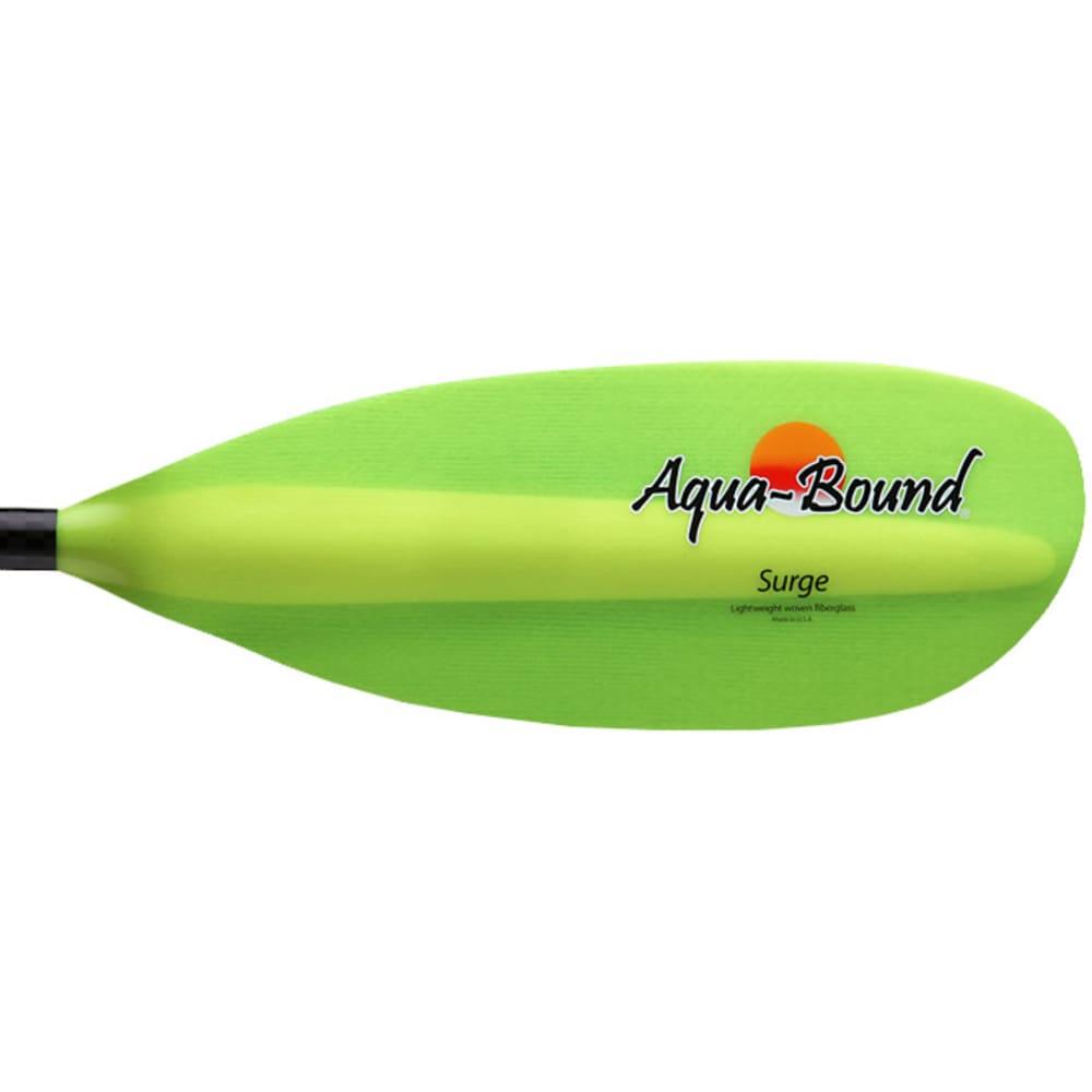 AQUA-BOUND Surge Fiberglass Kayak Paddle, 2-Piece, Posi-Lok - GREEN
