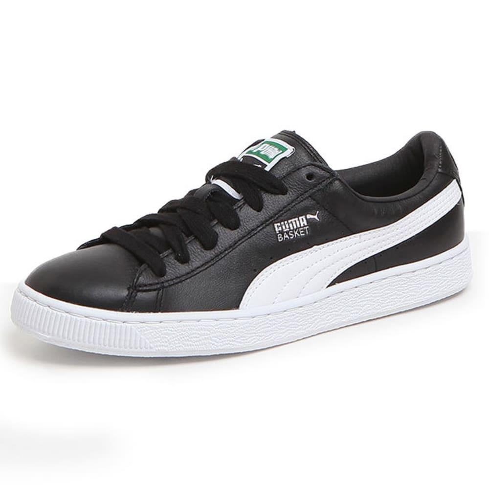 PUMA Men's Basket Classic LFS Skate Shoes, Black/White - BLACK
